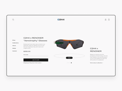 E-commerce Product Page clean interface layout grid fashion ecommerce minimal design typography web ux ui