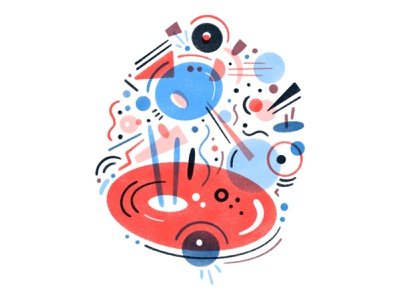 Chaotic Fuzz pattern geometric shapes design texture procreate illustration