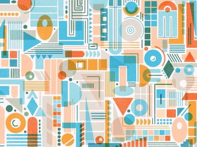 Shapes design procreate pattern art abstract shapes geometric texture pattern design