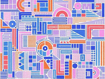 Tetris design geometric design illustration procreate texture pattern art pattern design