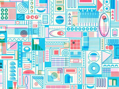 Doodle abstract geometric design geometric procreate texture blend modes pattern design pattern
