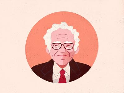 Bernie Bday texture procreate sketchbook portrait illustration bernie sanders