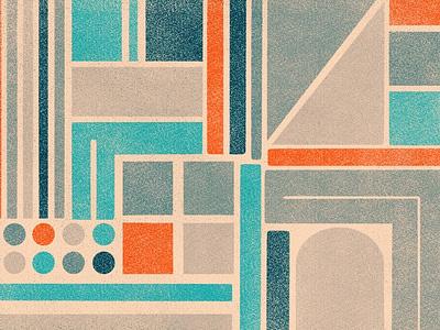Playing around simple shapes geometric design texture procreate illustration
