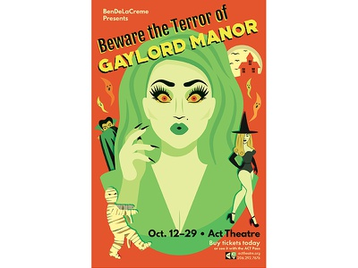 Gay Lord Manor Poster Redesign drag show rupauls drag race drag rupaul bendelacreme design poster