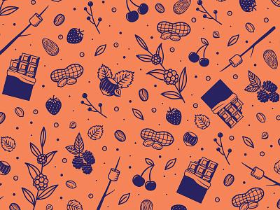 Coffee Pattern illustration pattern packaging rebrand strawberry hazelnut chocolate coffee