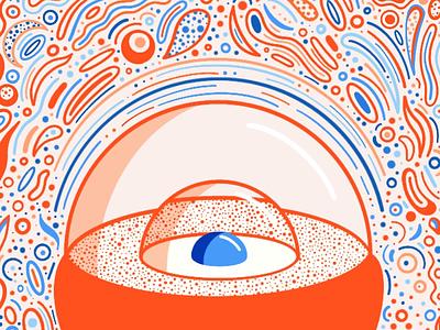 Eyeball Terrarium procreate abstract eye eyeball