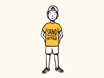 90s kid kid procreate illustration comics comic shaq 90s