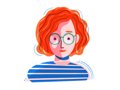 Self Portrait procreate texture illustration self portrait color portrait