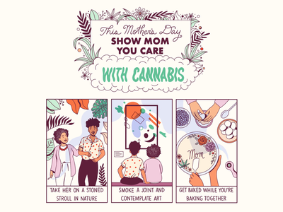 The Gift of Ganja mothers day pot cute son mother comix comics comic marijuana weed illustrator illustration