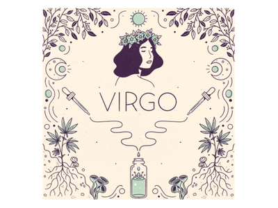 Virgo virgo horoscope zodiac star sign signs procreate leafly astrology illustration