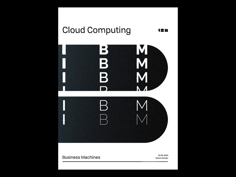 Type Poster - IBM ibm plex computing poster visualgraphics typography art illustration print coverdesign typography posterdesign graphicdesign