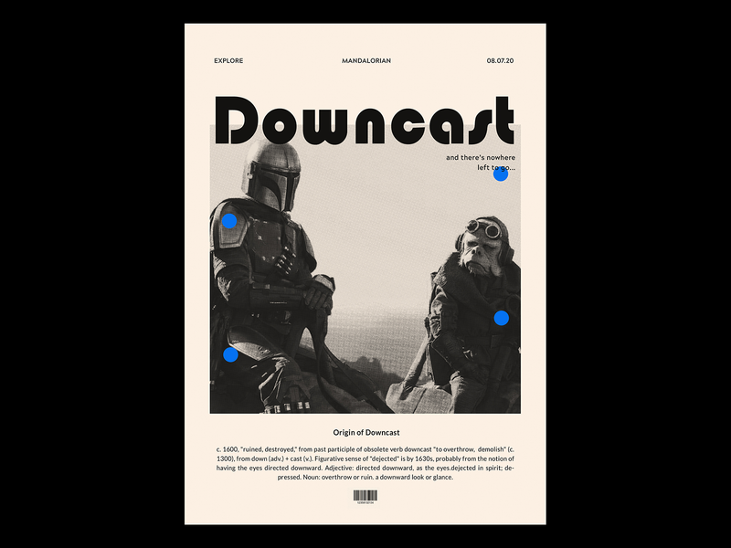Type Poster - Downcast graphicdesign visualgraphics typography art movieposter coverdesign typography poster mandalorian