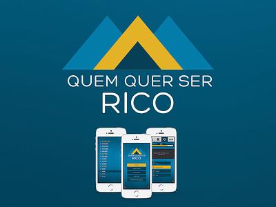 App - Quem Quer ser Rico app money blue game ios flat plataform minimal menu background cleverapps