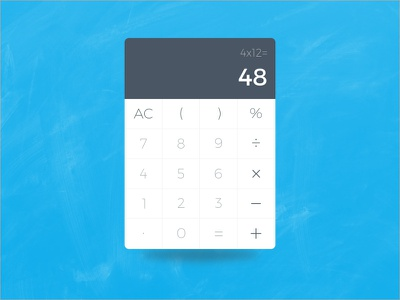 Calculator - Daily UI modern widget flat website sketch file minimal calculator dailyui