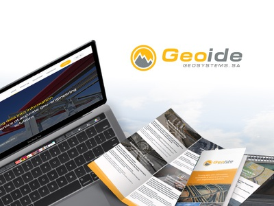 Case Study - Geoide tri-folds business cards rollup tradeshow website ux ui animation