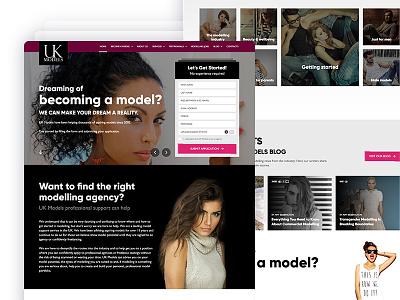 UKModels - Website homepage webdesign animations glamour dark modern ux ui wordpress models ukmodels