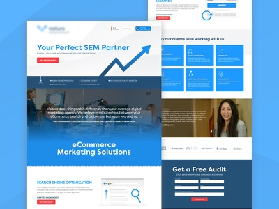 Landing Page - eCommerce Marketing Solutions ui design testimonials free audit sem cro landing page lead generation