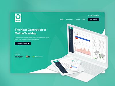 Online Tracking Website cro conversion optimization call to action ux ui affiliate platform ux design ui design website