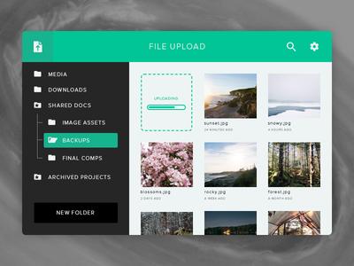 File Storage Widget droplr dropbox drive browser cloud folder file upload widget flat ui