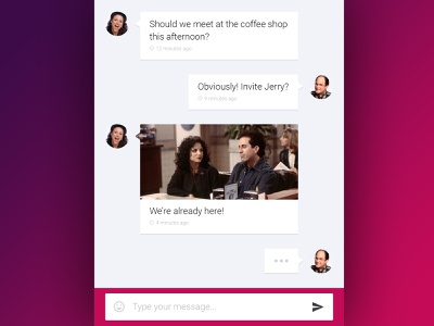 Chat UI mobile android message text chat app ui