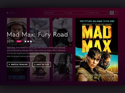 Smart TV animation television application interface netflix tv show movie tv ui
