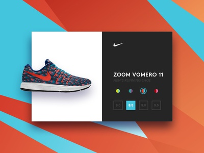 Nike iD id card commerce shoe nike flat ui