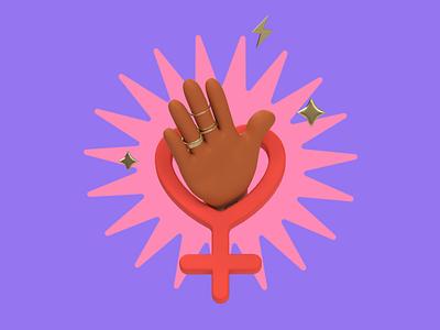 #ChooseToChallenge 2021 equality diversity power girl feminism women womens day c4d 3d animation 3d revolut