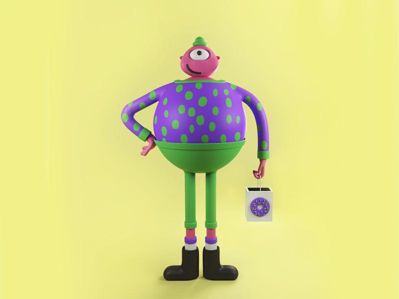 Chubby Green Pants arnoldrenderer design cinema 4d c4d character design character 3d