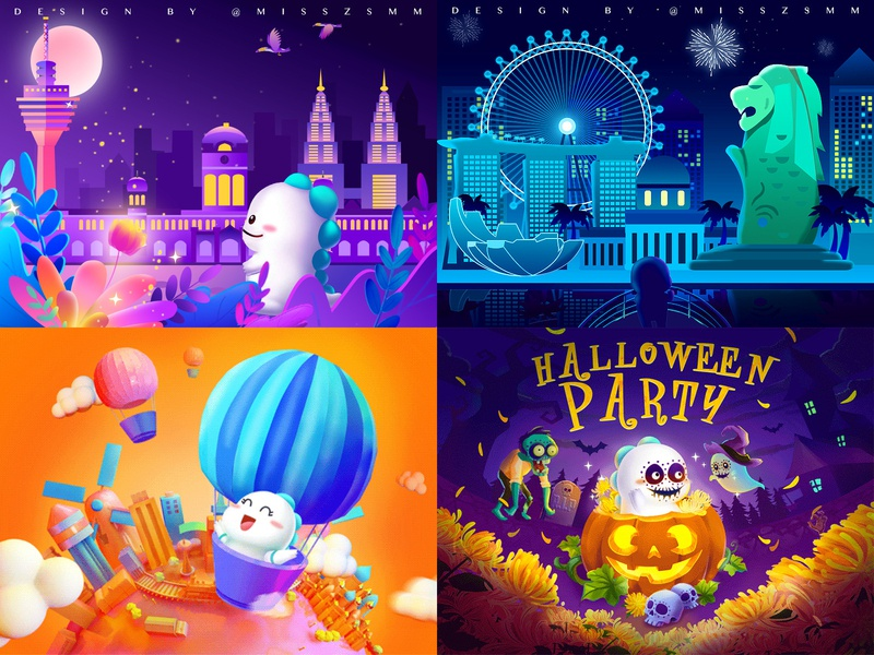 Check out my #Top4Shots on @Dribbble from 2018 dribbble logo web ux illustration hello design c4d