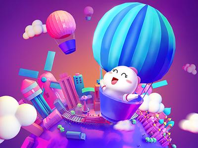 BIGO-LIVE-2018-7月平台活动-热气球环游世界