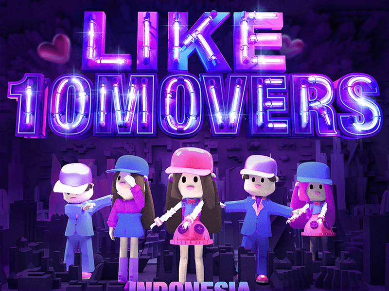 LIKEE 10 MOVERS practice hello h5 illustration ux animation web c4d