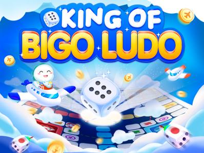 King of BIGO Ludo game ui logo branding illustration h5 hello practice web design c4d