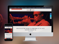 Responsive Artist Website - Miles Davis