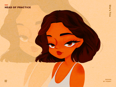 Tina head illustraion
