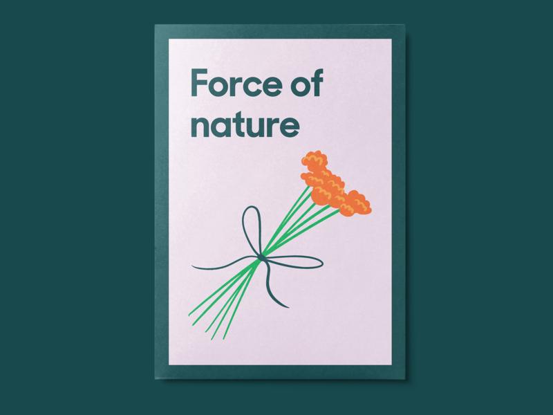 International Women's Day at Zendesk flowers womens day postcard event branding branding illustration design