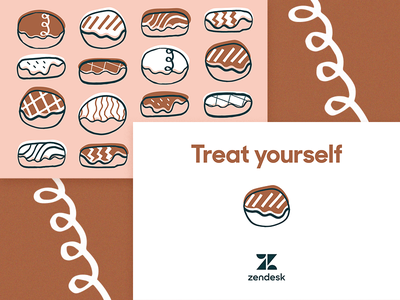 Donut Day! postcard design illustration donuts