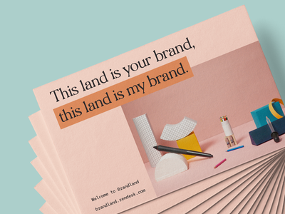 This land is your brand... poster postcard branding design