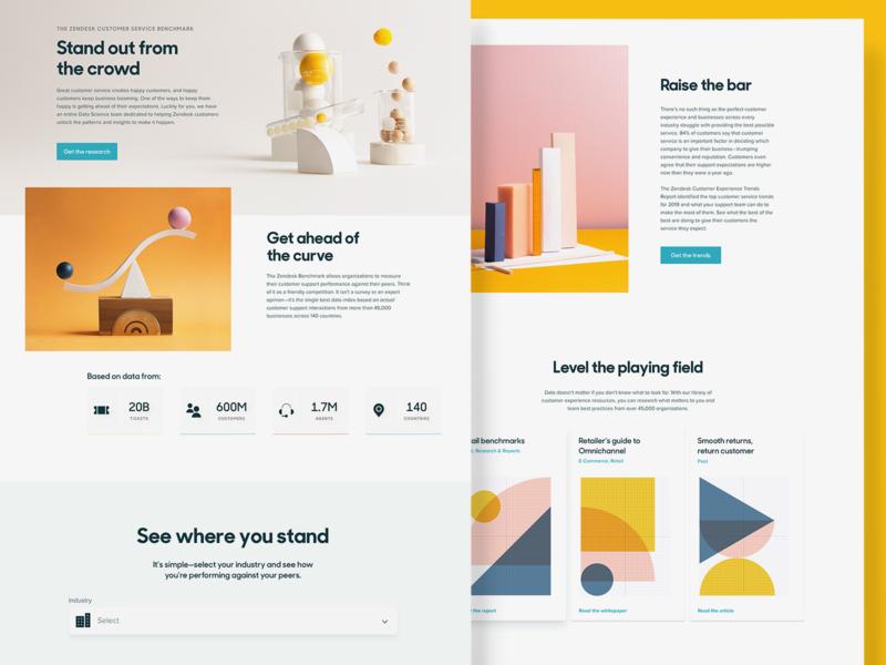 Zendesk Benchmark Redesign benchmark data science photography web design branding design