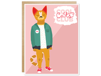 Cool Cats Club Greeting Card