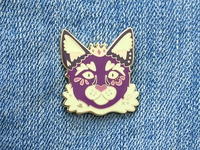 Malz Palz Purple Reign Cat Prince Enamel Pin