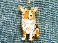 Malygos Cardigan Corgi 5th Barkday Enamel Pin