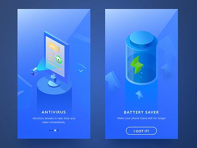 Onboarding onboarding iphone x illustrator battery saver antivirus