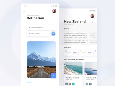 Lonely Planet ui blue highway iphone x clean design new zealand lonely planet travel