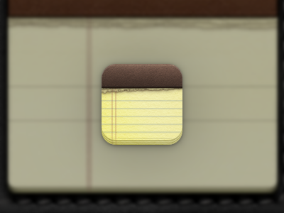 Notes App Icon ios icon notes leather iphone pages rip tear app