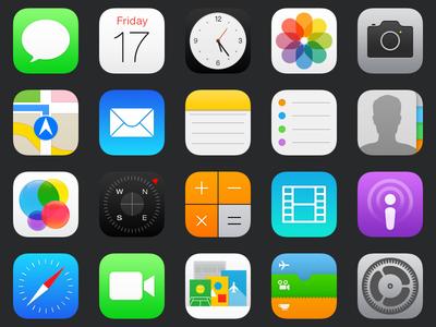 iOS 7 Addendum Icons