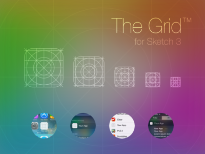iOS 7 App Icon Grid Template