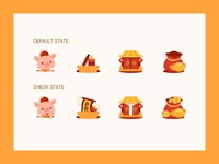 Pig's Year Icons