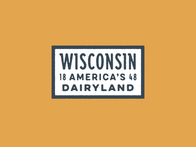 Classic State Wisconsin Patch dairy americas dairyland patch wisconsin