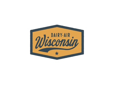 Classic State Wisconsin patch dairy dairy-air wisconsin hat badge