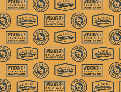 Classic State Wisconsin Badges